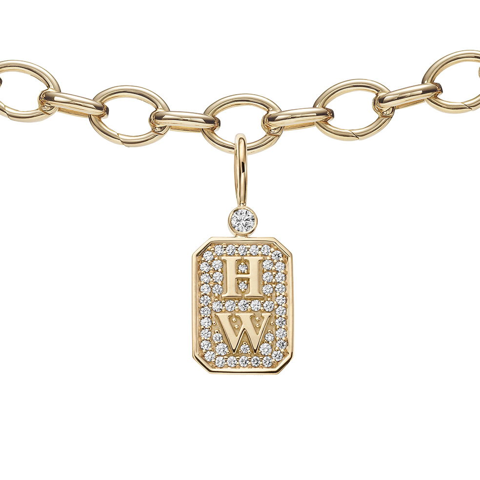 HIGH JEWELRY DIAMOND AND GOLD BRACELET WITH CHARMS MADE BY HARRY WINSTON AND SHOT BY DAVID FILIBERTI