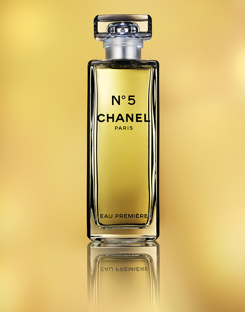 CHANEL NUMBER 5 FIVE ON A GOLDEN BACKGROUND BY DAVID FILIBERTI