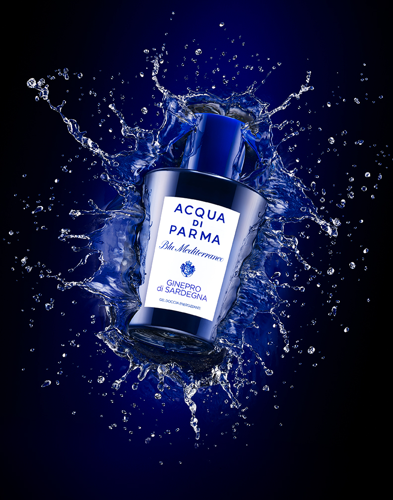 ACQUA DI PARMA FRAGRANCE SPLASHING IN WATER BY DAVID FILIBERTI