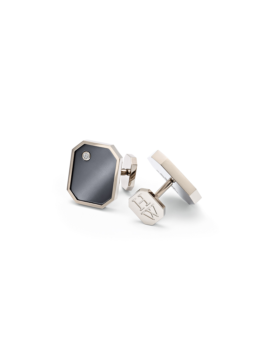 HIGH JEWELRY CUFF LINKS WITH DIAMONDS MADE BY HARRY WINSTON AND SHOT BY DAVID FILIBERTI