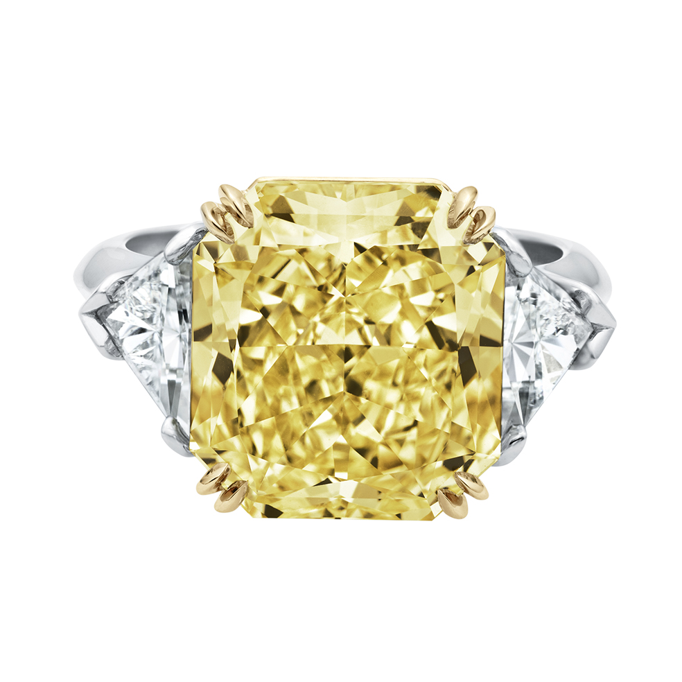 HIGH JEWELRY YELLOW DIAMOND RING MADE BY HARRY WINSTON AND SHOT BY DAVID FILIBERTI